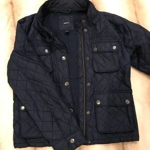 Girls Gap utility jacket - navy quilted